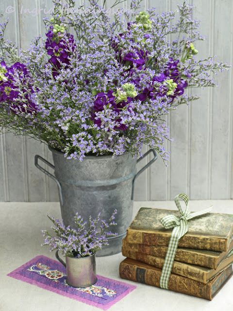 Lavender flower arrangement another reason to grow lots of lavender