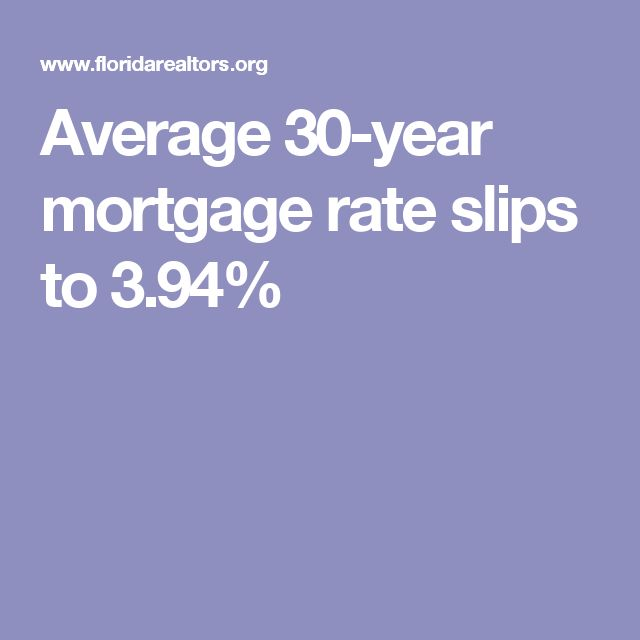 Average 30-year mortgage rate slips to 3.94%