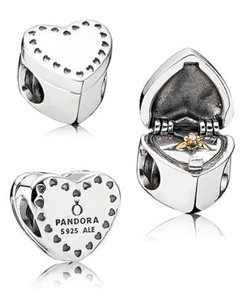 Pandora Gift from the Heart Charm - WANT. I know it's engagement-y but I love any jewellery that opens and closes <3