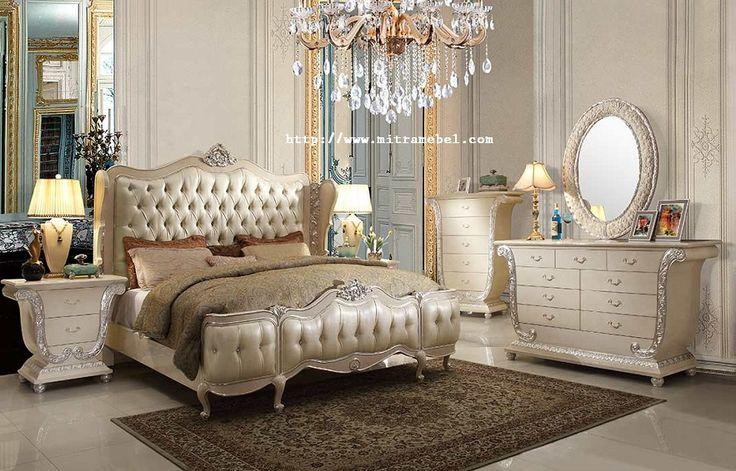 Set Kamar Tidur Mewah Terbaru Model Klasik merupakan produk furniture unggulan mitra mebel jepara yang diproduksi
