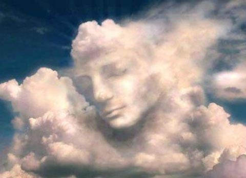 Whoa! Now that would be spooky! A face in the clouds - (From jokeroo.com)