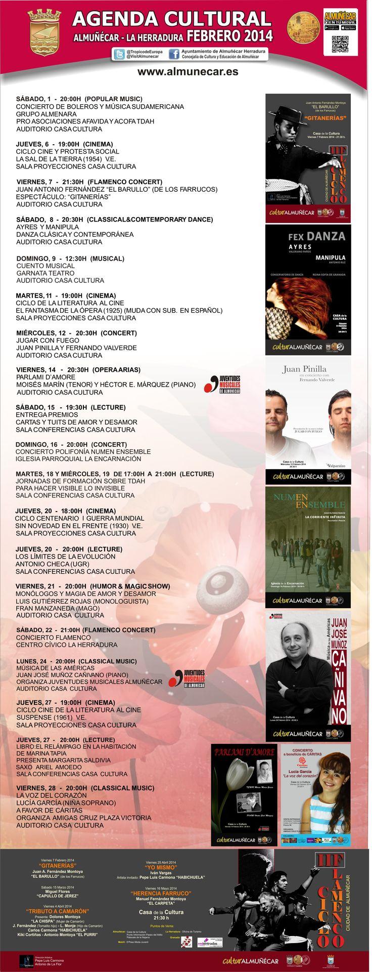 Agenda Cultural Almuñécar Febrero 2014