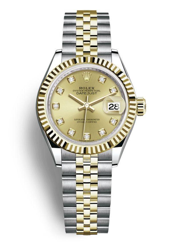 59c4286d7da Montre Rolex Lady-Datejust 28 en diamants
