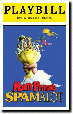 Playbill Cover for Spamalot at Shubert Theatre 2005-2009