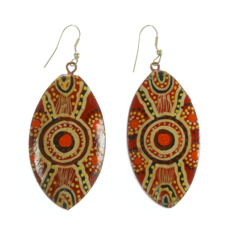 Keringke Aboriginal Campsite Teardrop Earrings - £17.99