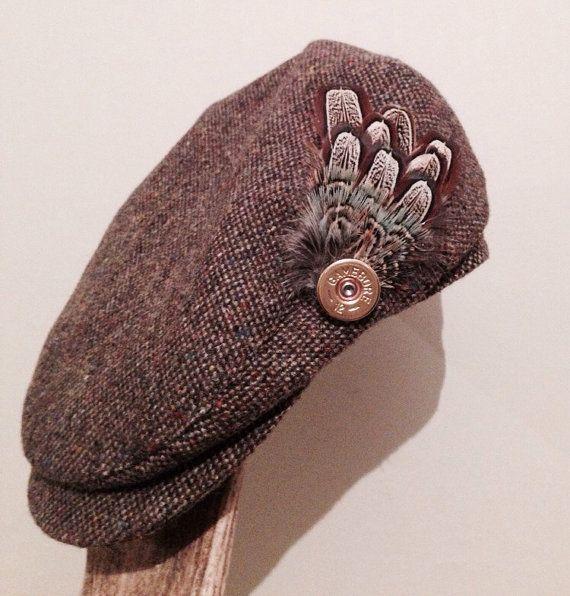 Shotgun cartridge pheasant feather brooch by GunpowderAndFeathers