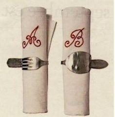 Portatovaglioli da riuso creativo forchetta e coltello