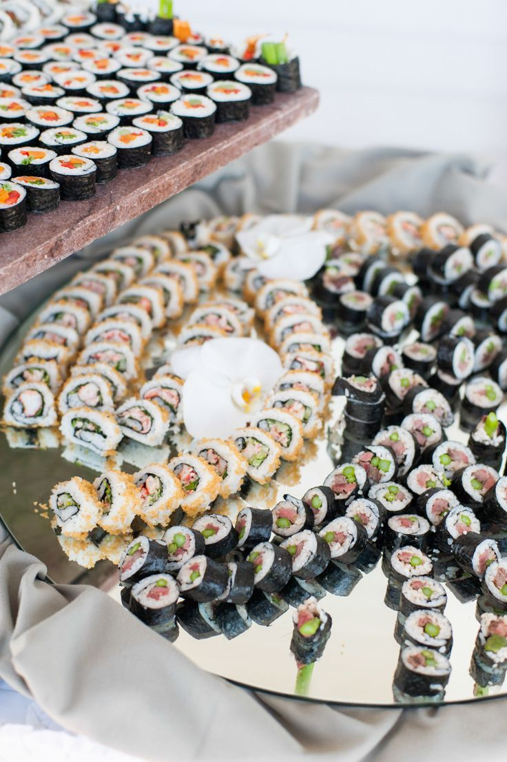 Sushi made for a wedding at The Spring House Hotel, Block Island, Rhode Island. Photography: leila brewster - leilabrewsterphotographyblog.com Read More: http://www.stylemepretty.com/2014/02/13/block-island-wedding-at-the-spring-house-hotel/