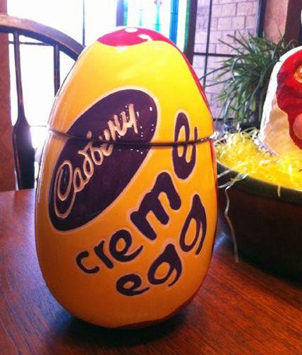Cadbury Easter Egg Advertising Cookie Jar