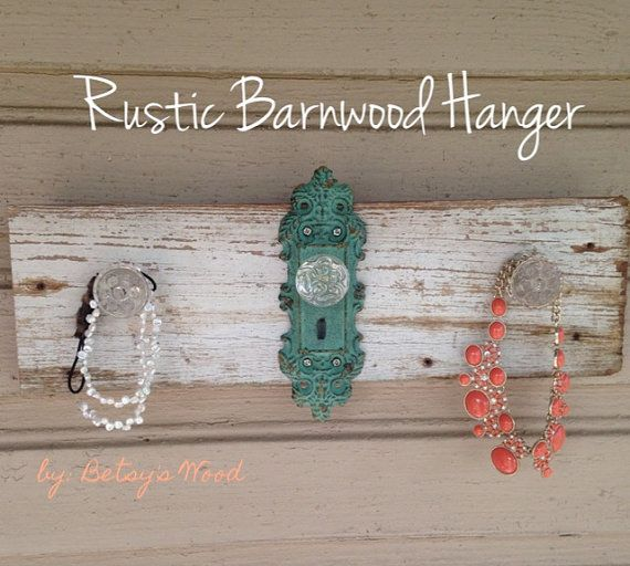 Barn wood Home Decor, Antique Turquoise Jewelry display holder. Unique rustic wedding gift. ANTHROPOLOGIE inspired on Etsy, $48.00