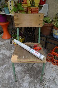 DIY: relooker une chaise d'écolier