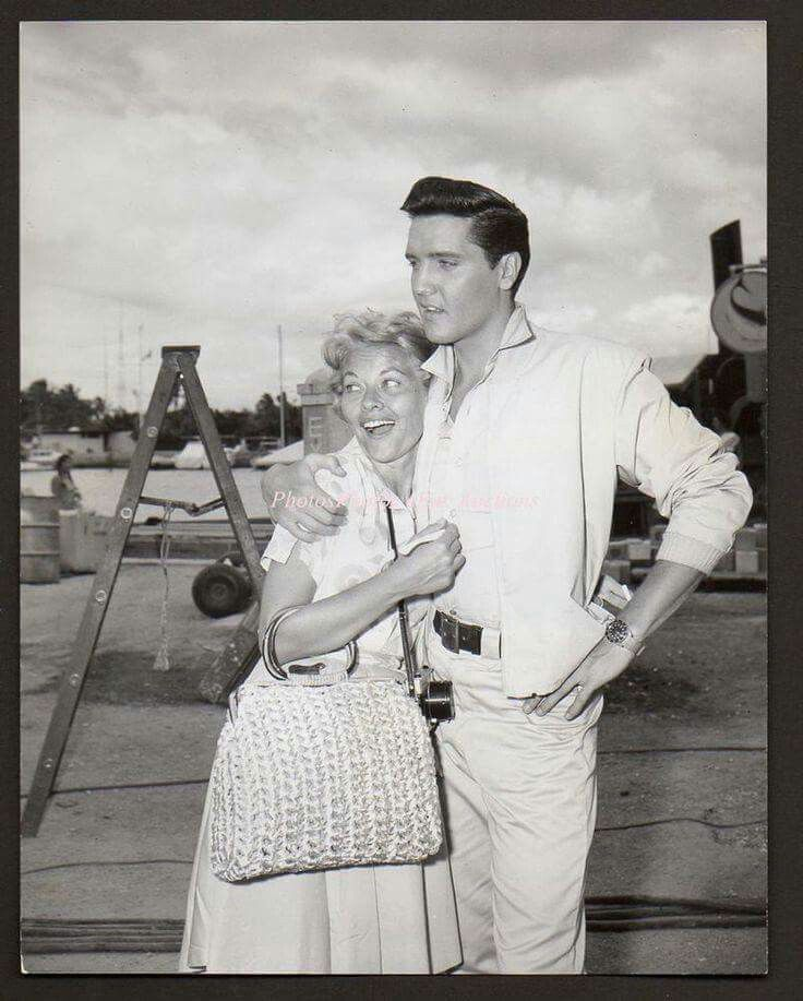 Elvis with singer  Patti Page on the set of Girls  Girls Girls 1962