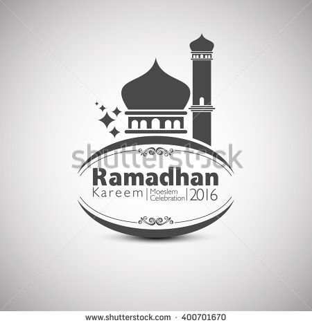 Ramadan Kareem 2016 in Mosque Concept. Vector Illustration - stock vector