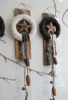 couronnes laine et bois - floristik - ausstellungen - wohnakzente