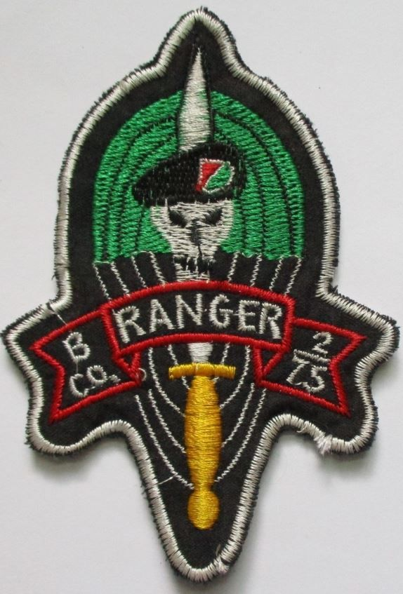 "Patch - ""B"" Co RANGER US 2nd Battalion 75th Infantry Regiment PATCH"