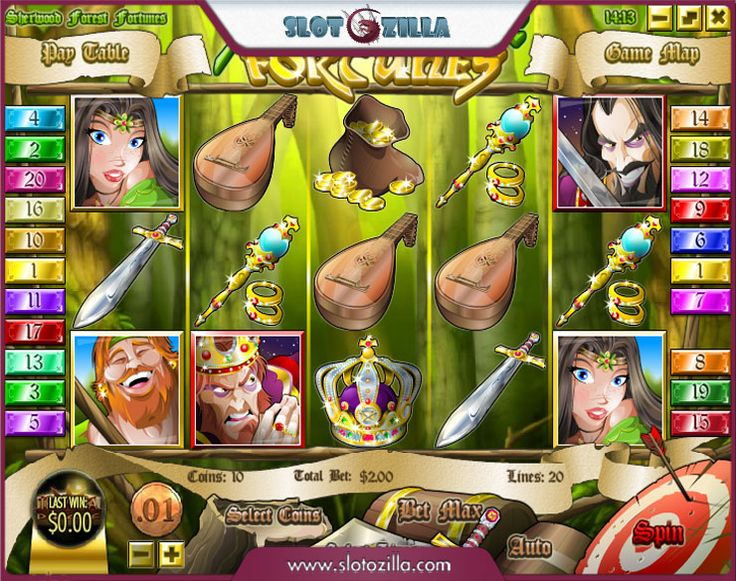 Sherwood Forest Fortunes™ Slot Machine Game to Play Free in Rivals Online Casinos