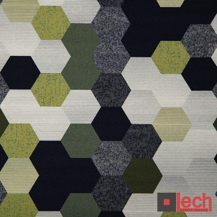 Wzory geometryczne na tkaninach meblowych są bardzo popularne :)  Tkanina PRINT AC - nadruk wykonany na tkaninie Haiti