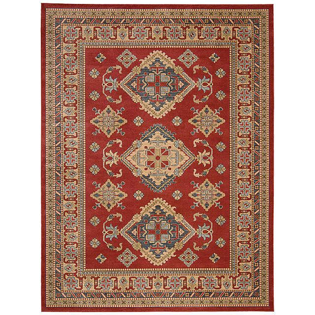 BuyJohn Lewis Diamond Kazak Rug, Red, L320 x W239cm Online at johnlewis.com