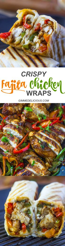 Crispy Fajita Chicken Wraps | Gimme Delicious
