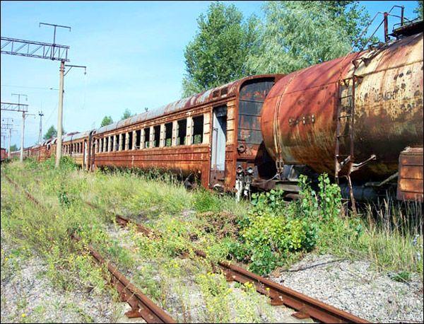 Pripyat city radioactive train