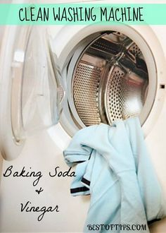 clean and disinfect washing machine with vinegar and baking soda