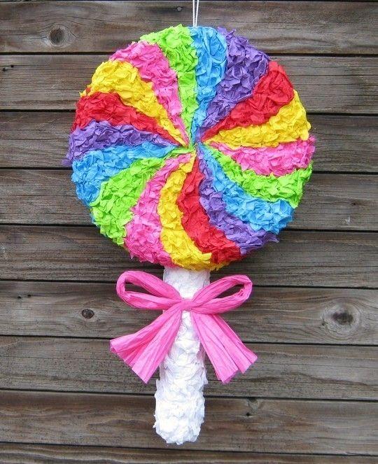 Yummy Swirly Lollipop Pinata  MADE TO ORDER by BirchangelPinatas, $40.00