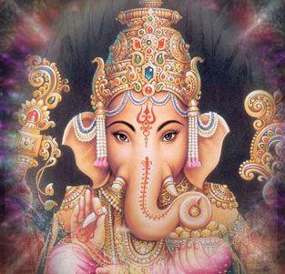 Ganesha, por Marcia De Luca: Quantas vezes encontramos obstáculos em nossas vidas, obstáculos que impedem o fluir natural e espontâneo de nossas ações. Mas para facilitar o nosso bem-viver devemos reconhecer dentro de nós o arquétipo energético de Ganesha,  conhecido na India como o deus criança com cabeça de elefante. O poder de Ganesha remove todos os empecilhos, nos ajuda a vencer, nos ajuda a transpor barreiras com leveza e nos ensina também que a vida é Lila - brincadeira.