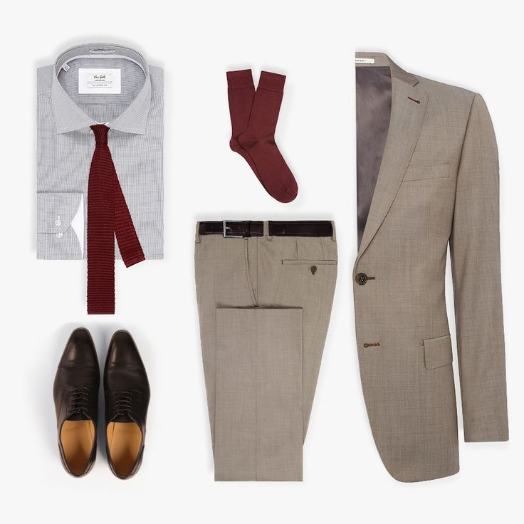 Suit Brown Plain Ellis