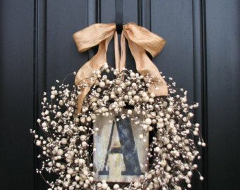 Wedding wreath for door (You may use existing nails)