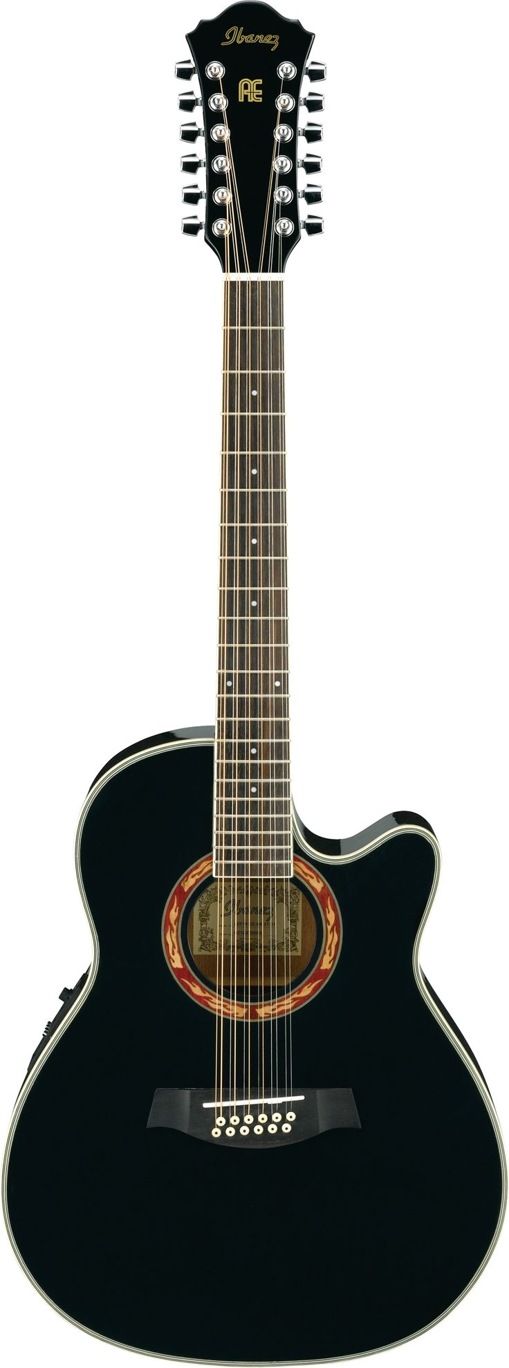Ibanez AEF1812EBK #LardysWishlists #Guitar ~ https://www.pinterest.com/lardyfatboy/ ~