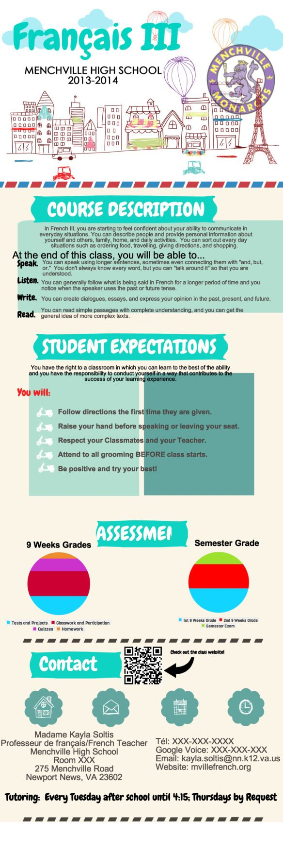 34 best Infograph Syllabi images on Pinterest | Spanish classroom ...