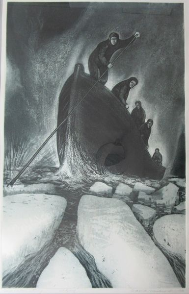 David Blackwood, Sick Captain Returning, etching & aquatint, 1972, Artist Proof to edition of 25, 32 X  20 inches.