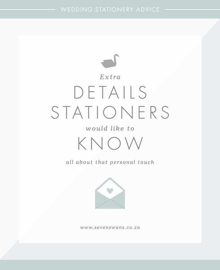 The extra details stationers would like to know   Stationery tips by Seven Swans Stationery Studio