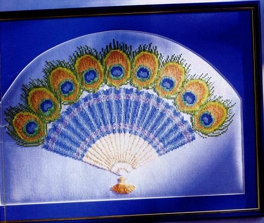 Peacock ornate fan 1/3