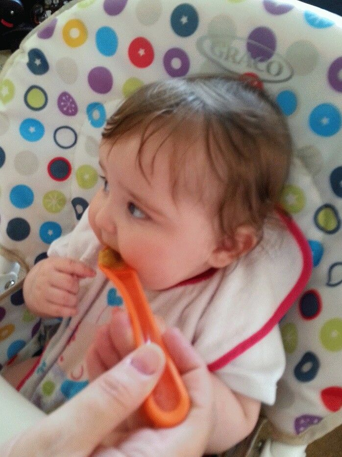 Mia having lunch !!
