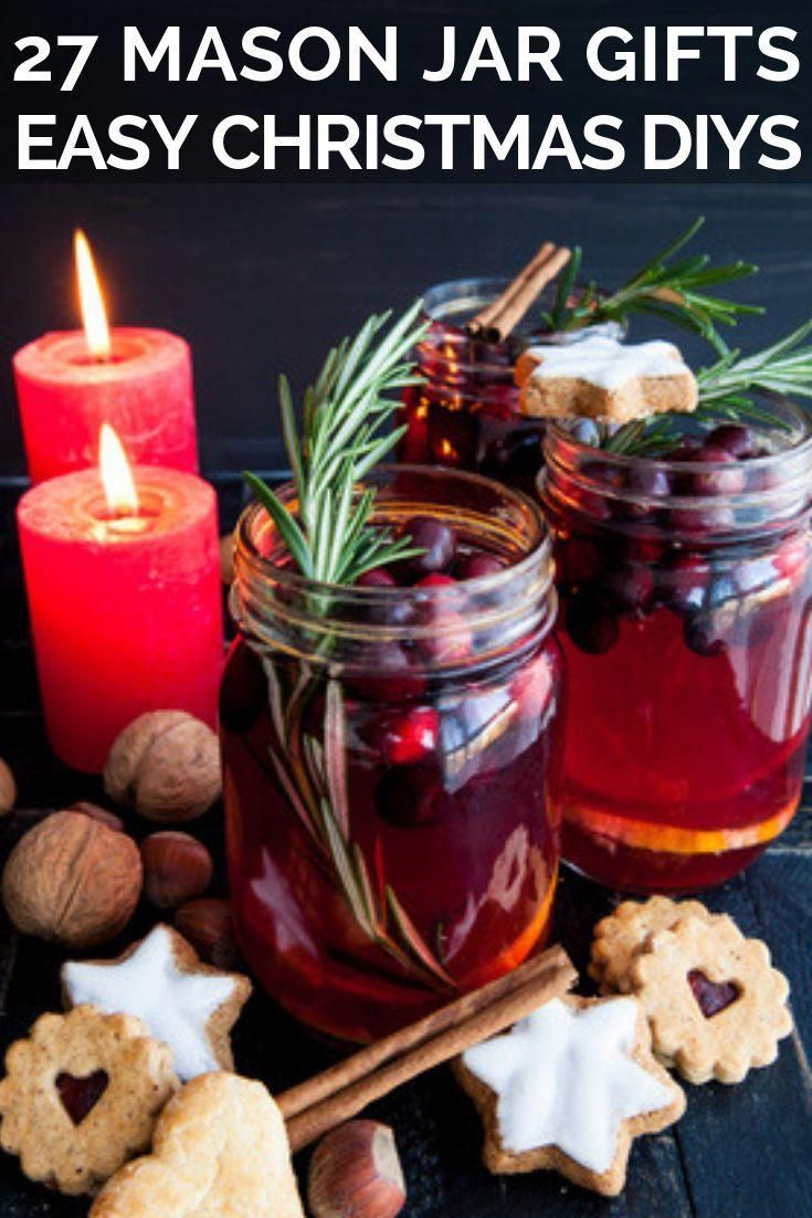 22 Mason Jar Gifts for Christmas Christmas gift in a jar ideas! These DIY gift ideas are perfect for teachers, friends, boyfriends, kids, and teens-an…