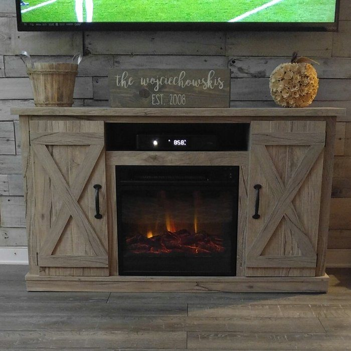 Lorraine Tv Stand For Tvs Up To 55 With Electric Fireplace