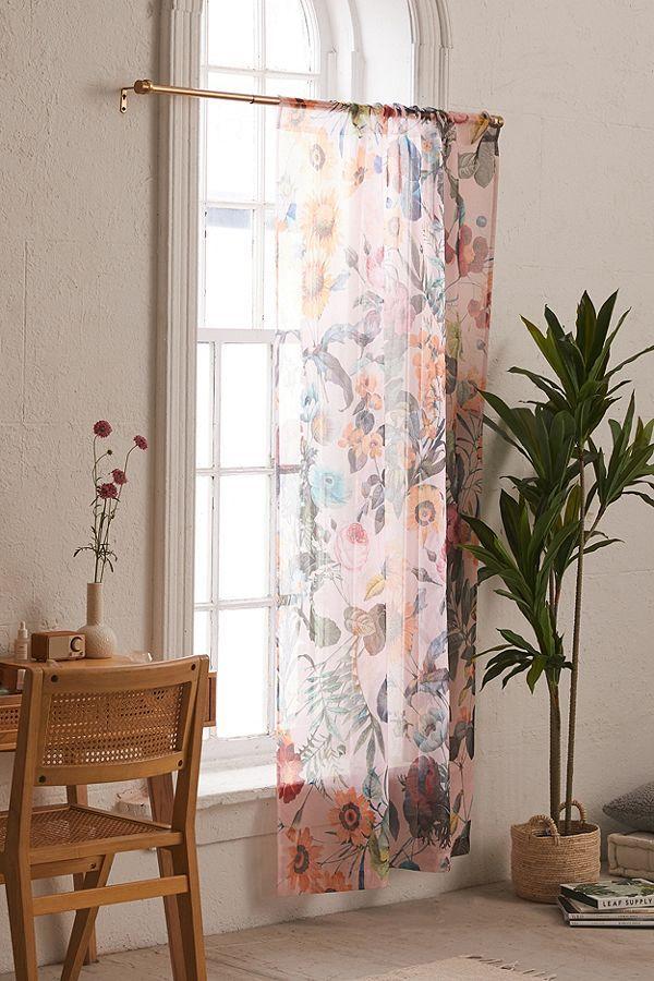 Burcu Korkmazyurek For Deny Exotic Garden Sheer Window Panel ...