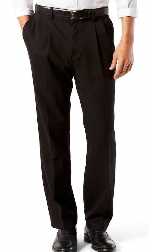 6ab54761fdb099 Dockers Men's Signature Khaki Classic Fit Pants - Pleated D3 - Choose SZ -  Black #Dockers #Casual