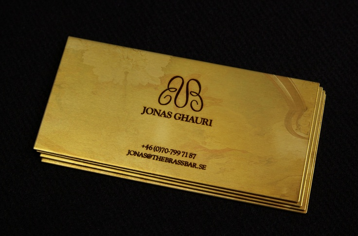 The Brass Bar - business card
