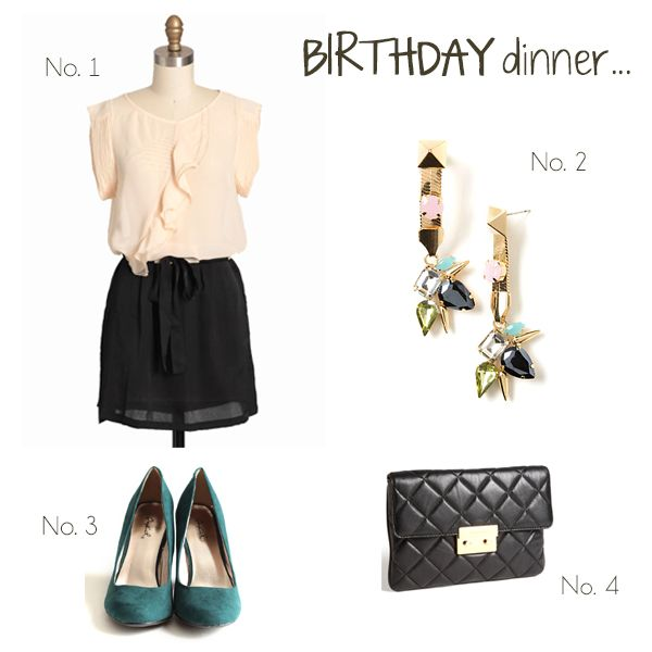 my perfect birthday dinner outfit