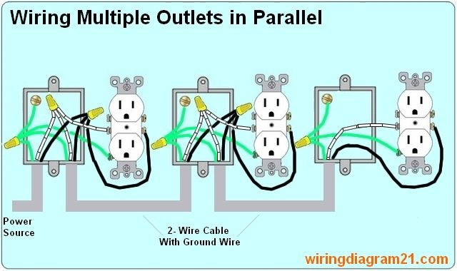 wiring diagram multiple outlets