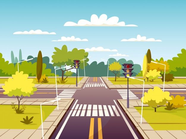 Free Street Crossroad Of Traffic Lane And Pedestrian Crossing Or Crosswalk Svg Dxf Eps Png In 2020 Pedestrian Crossing Anime Background Episode Interactive Backgrounds