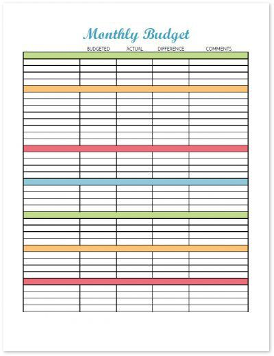 Budget Binder Printable How To Organize Your Finances budgeting