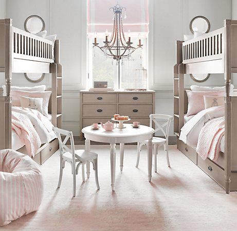.Little Girls Room, Restoration Hardware Baby, Bunk Beds, Girls Bedrooms, Kids Room, Kidsroom, Children, Restorationhardware, Girl Rooms