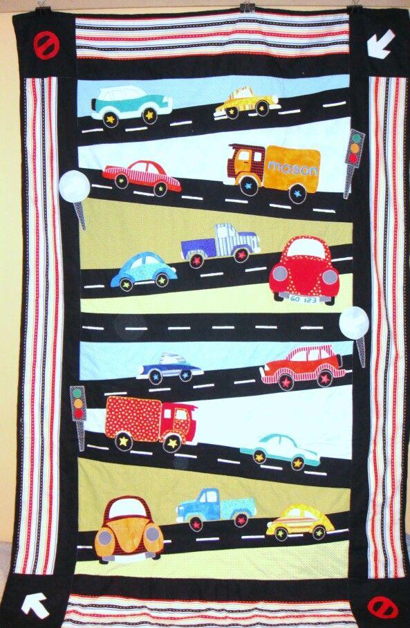 Mason's truck quilt.
