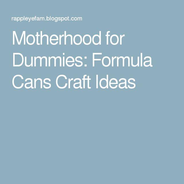Motherhood for Dummies: Formula Cans Craft Ideas