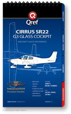 Quick Reference Media Cirrus SR22 G3 Qref Book