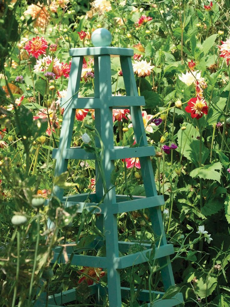 Wooden Obelisk Plant Support Woodworking Projects Plans
