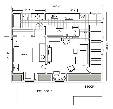 366 best tiny house images on pinterest small houses for 24x32 garage plans
